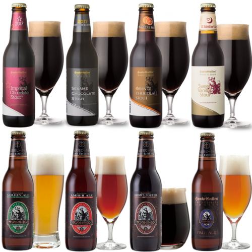 数量限定 【<チョコビール入>クラフトビール8種飲み比べセット】 8本全てが違う味と香りのビール<送料無料>