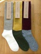 ざっくり編みくつした  ツイストウール・ロング