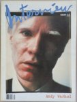 Andy Warhol's Interview magazine February 1989