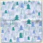 旅するハンカチーフ vol.7 in Finland/snow forest・ブルー