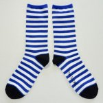 <img class='new_mark_img1' src='https://img.shop-pro.jp/img/new/icons13.gif' style='border:none;display:inline;margin:0px;padding:0px;width:auto;' />MONDE THE SOCKS/SHIMA ロイヤルブルー&ホワイト