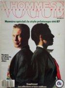 VOGUE HOMMES INTERNATIONAL MODE (Fr)  1987年S/S No.5