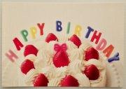 お誕生日・ポストカード/バースデイケーキ