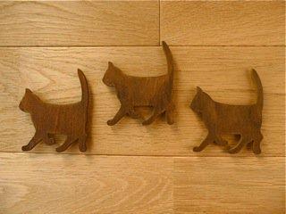 マグネット 木製ねこ/ブラウン