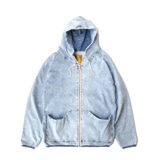 DENIM SWEAT PARKA