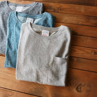CREW NECK HEMP TEE HEATHER POCKET