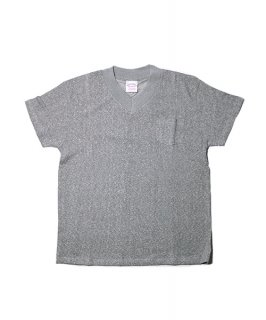 V-NECK HEMP TEE HEATHER POCKET