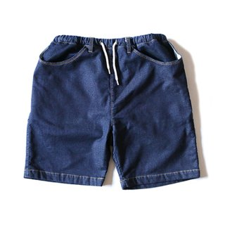 DENIM SWEAT SHORTS