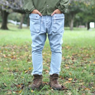 G55 Sarouel Flap Denim Pants -HICKORY DAMAGE-