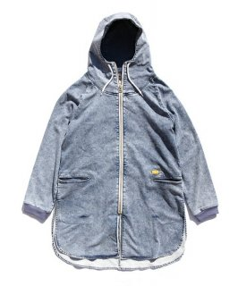 DENIM SWEAT PARKA LONG