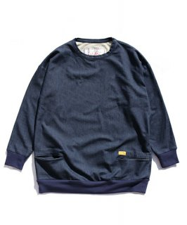 DENIM SWEAT CREW NECK