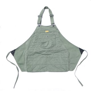 HOLTER APRON QUILTED ARMY CORD