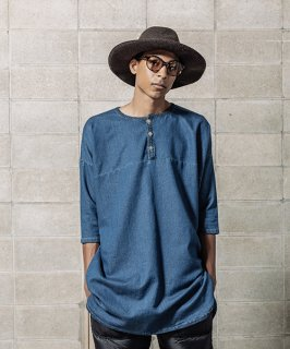 【予約商品】WIDE SPREAD DENIM SWEAT LONG HENRY