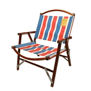 Kermit Chair WALNUT RETRO STRIPE