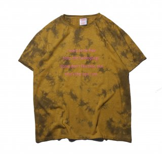 CREW NECK HEMP TEE HEAVY 2 SHIBORI PRINTED