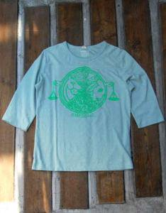FOODCHAN3/4FOOTBALL TEE HEMP(SAGE GREEN)