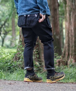 G55Sarouel Flap Denim Pants -ONE WASH-