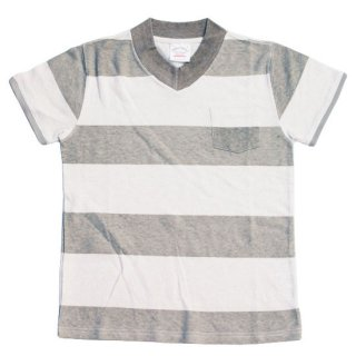 ヘンプ Vネック Tee ボーダー / HEMP V-NECK TEE BORDERS -3 colors!