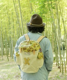 Bamboo Frame BackPack<br>& things Hachigahana