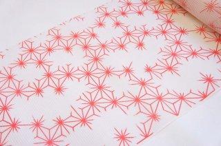 絹紅梅【赤/飛び麻の葉】仕立代込み