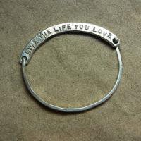 LOVE THE LIFE Bangle silver