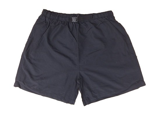 """COBRA CAPS"" NYLON BAGGY SHORTS (BLACK)"