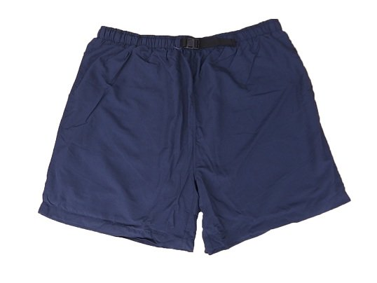 """COBRA CAPS"" NYLON BAGGY SHORTS (NAVY)"