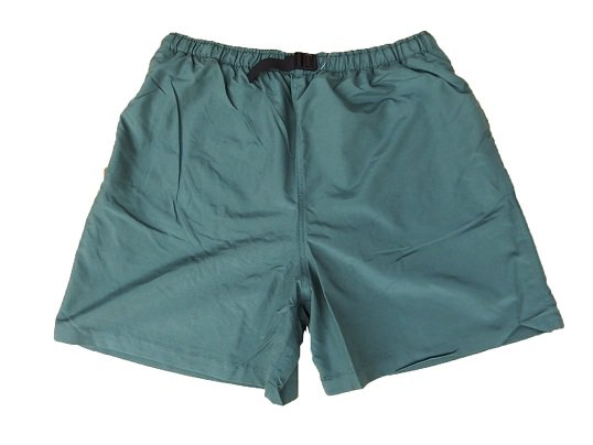 """COBRA CAPS"" NYLON BAGGY SHORTS (DARK GREEN)"