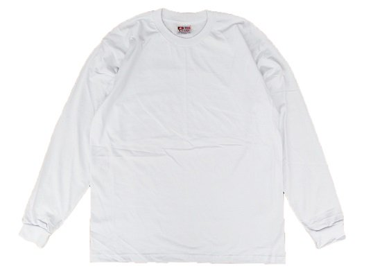 """""""BAY SIDE"""" L/S HEAVY WEIGHT Tee (WHITE)"""