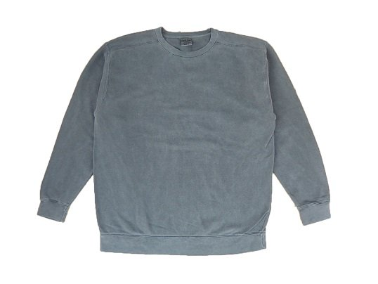 """""""COMFORT COLORS"""" GARMENT DYED CREW NECK SWEAT (WASHED BLACK)"""