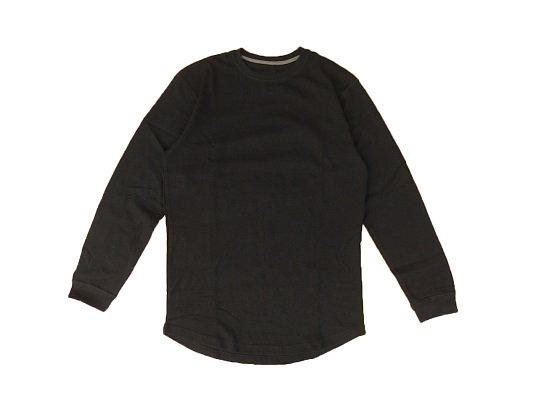 """CHAMPS"" L/S THERMAL - ROUND TAIL (BLACK)"