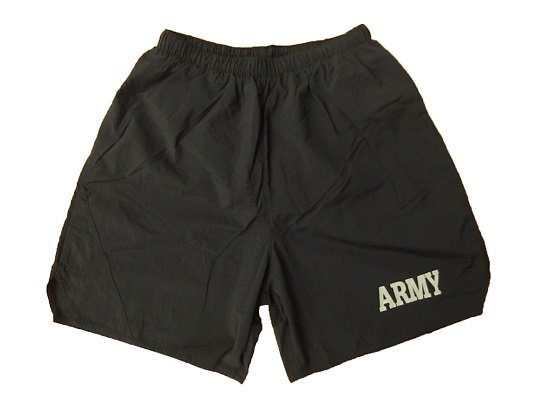 U.S.ARMY PHYSICAL TRAINING SHORTS - DEAD STOCK (BLACK) XXL