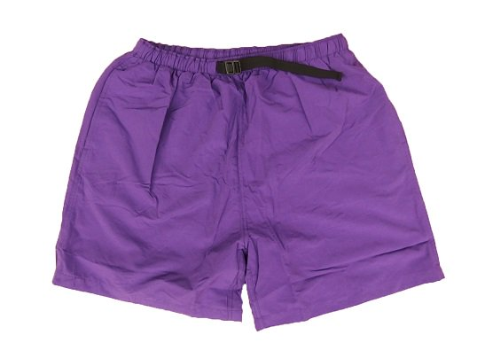 """COBRA CAPS"" NYLON BAGGY SHORTS (PURPLE)"