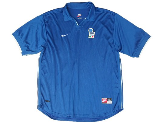 """NIKE"" ITALY NATIONAL TEAM SOCCER JERSEY  (98's DEAD STOCK) - Size XL"
