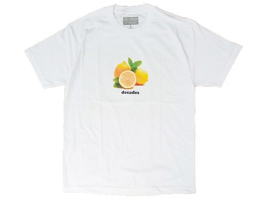 """THE DECADES"" LEMON TEE (WHITE) - the Apartment Exclusive"