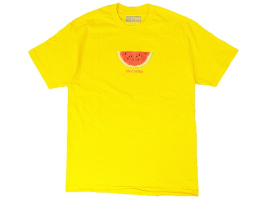 """THE DECADES"" WATERMELON TEE (YELLOW) - the Apartment Exclusive"