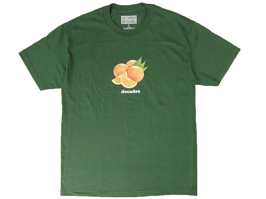 """THE DECADES"" ORANGES TEE (FOREST GREEN) - the Apartment Exclusive"