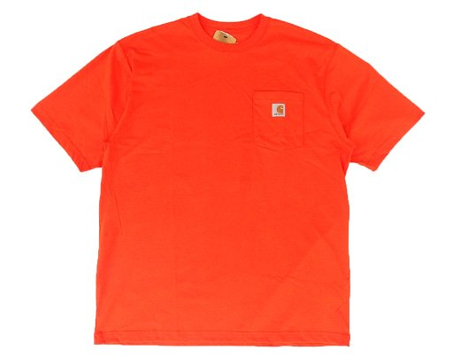 """Carhartt"" HEAVY WEIGHT POCKET TEE (BLAZE ORANGE)"