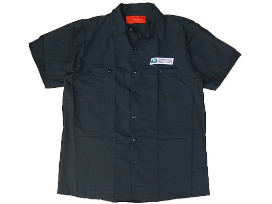 """USPS"" S/S WORK SHIRTS (NAVY)"