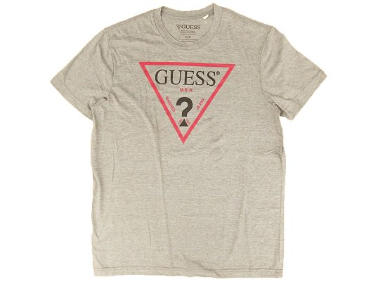 """GUESS"" TRIANGLE LOGO TEE (GREY)"