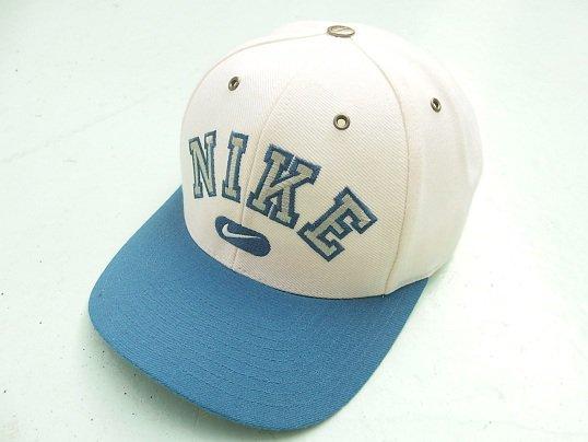 """NIKE"" LOGO CAP (NATURAL x LIGHT BLUE)"
