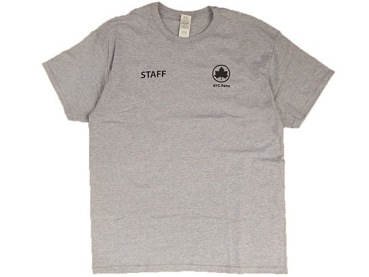 """""""NYC Parks"""" OFFICIAL UNIFORM TEE (GREY)"""