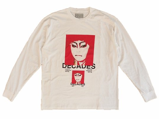 """THE DECADES"" KABUKI L/S TEE (WHITE)"