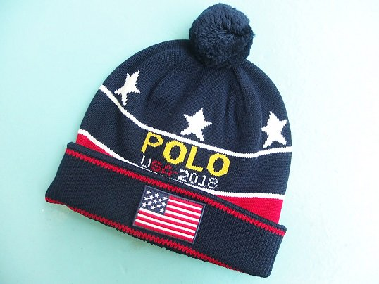 """""""POLO RALPH LAUREN"""" STAR AND STRIPES 2018 OLYMPIC BEANIE"""