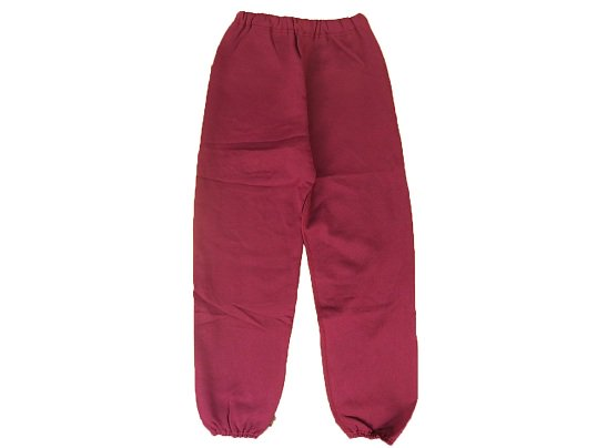 """DISCUS ATHLETIC"" SWEAT PANTS - 91's DEAD STOCK (BURGUNDY)"