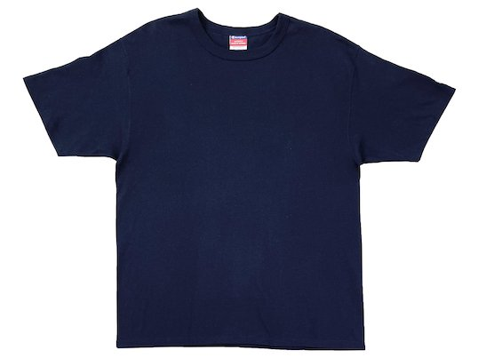 """Champion"" 7OZ. HEAVYWEIGHT TEE - US限定 (NAVY)M〜XL"