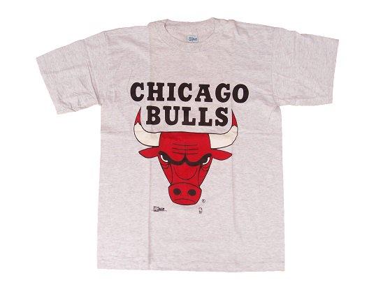 """""""SALEM SPORTSWEAR"""" CHICAGO BULLS Tee - 90's DEAD STOCK (SILVER GRAY)"""