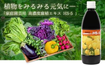 家庭園芸用 高濃度腐植エキス HS-5 〜植物をみるみる元気に〜
