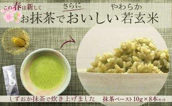 抹茶ペースト8本セット〜やわらか若玄米がおいしく炊ける〜