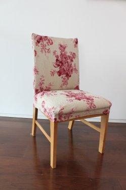 【横ストレッチ】スペイン製チェアカバー(椅子カバー):ヴィンテージローズ 座面2枚組1900円又は背付3200円より